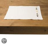 In the Mood Button Placemat - 33 x 45 cm - 4 stuks - Ivoor
