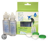 Biotrue Flight Pack - 2 x 60 ml + 2 lenshouders + Zip-bag - Lenzenvloeistof
