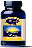 Toppharm Vitamine B Complex 100 mg - 60  Tabletten  - Vitaminen