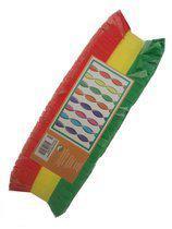 Crepe slinger rood/geel/groen 24m brandvertragend