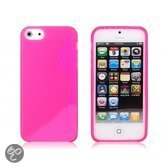 iPhone 5 siliconen cover case S-design - hotpink