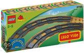 LEGO DUPLO Ville Gebogen rails - 2735