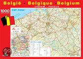 Puzzel Roadmap België 1000 stukjes