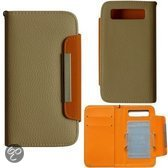 Kalaideng Book Wallet Case Fashion Roomwit / Oranje voor Samsung Galaxy S3
