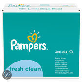 Pampers Fresh Clean - Billendoekjes Navulpak 15x64 st.