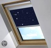 Bloc verduisterend dakraamgordijn geschikt voor Fakro FTP/V 3 (66/98), Night Sky