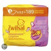 Zwitsal - Billendoekjes Sensitive 3x63 St