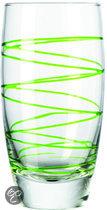 Montana Swirl Longdrinkglas - Groen - 6 stuks