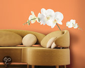 RoomMates Muursticker White Orchids - Wit