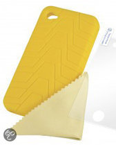 Silicone Grip Yellow iPhone 4 (Logic3)