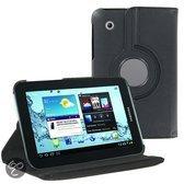 Samsung Galaxy Tab 2 7.0 inch P3100 / P6200 PU Lederen 360 graden rotatie hoes case hoesje zwart