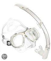 Aqua Lung Sport Look 2 + Pv Snorkel - Snorkelset - White Artic
