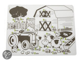 Modern Twist Mark Matz Farm Buddies Placemat - 40 x 32 cm - Wit