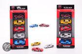 Super cars 5 stuks Die cast auto's in doos