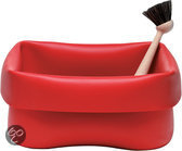 Normann Copenhagen Washing-Up bowl & brush - Schaal - Rood
