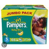 Pampers Baby Dry - Luiers Maat 5 - Jumbo box plus 66st