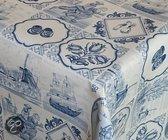 2LIF Delfts Blauw Tafelzeil - PVC -  140 x 240 cm