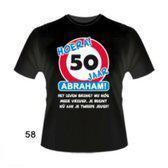 Leeftijd T-Shirt - 50 jaar - Abraham. Maat XL