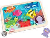 Janod Chunky Onderwaterwereld - Knopjespuzzel