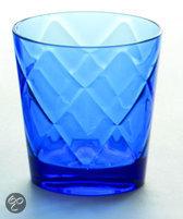 Baci Milano So Chic Waterglas - Blauw - Set van 6 stuks