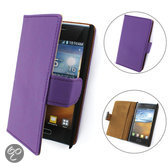 TCC Luxe Hoesje LG G2 Book Case Flip Cover - Paars