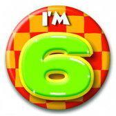 Paperdreams Button Klein - I'm 6