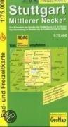 Freizeitkarte Stuttgart 1 : 75 000. Mittlerer Neckar