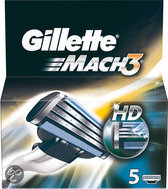 Gillette Mach 3 - 5 stuks - Scheermesjes