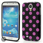 Samsung Galaxy S4 Polka Dot case cover - paars