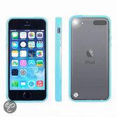Hoesje Bumper case met achterkant Licht Blauw Blue voor Apple iPod Touch 5