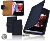 Alternate Book Case Hoesje Voor LG Optimus L3 ll E430 Zwart