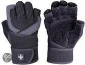 Harbinger Training Grip WristWrap® - Fitnesshandschoenen - Zwart/Grijs - XL