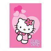 Hello Kitty speelkleed hartjes 95 x 133 cm