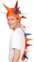 Oranje draken muts