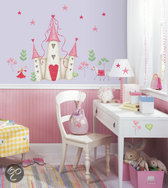 RoomMates Muursticker Princess Castle - Roze