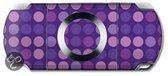 Wrapstar Skin Purple Dots PSP Slim + PSP Lite