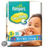 Pampers New Baby - Luiers Maat 3 met urine indicator Midpak 35 stuks