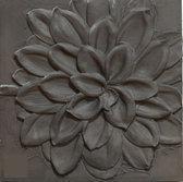 Arthouse Canvas  Black Abstract Flower - Zwart - 60x60 cm