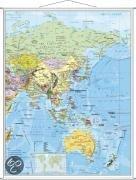 Asien politisch: Wandkarte mit Metallbeleistung