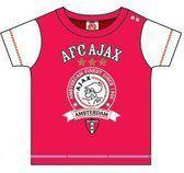 Ajax T-shirt baby rood finest maat 86-92