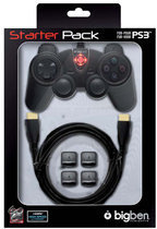 Bigben Controller + Hdmi Kabel + Triggers Zwart PS3 + PC