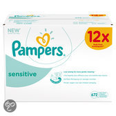 Pampers Sensitive - Billendoekjes Navulpak 12x56 st.