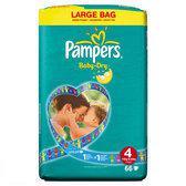 Pampers Baby Dry - Luiers Maat 4 Jumbopak 66 stuks