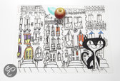 Modern Twist Mark Matz Kat in the City Placemat - 40 x 32 cm - Wit