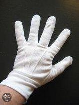 Handschoenen wit van katoen Maat XL