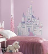 Disney RoomMates Muursticker Princess - Castle m.Glitter - Multi