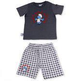 Smurf Pyjama Boy Classic Grey - Grey - 8-10 JR.