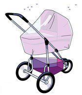 Babsana Klamboe Voor Kinderwagen - Wit