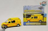 Metalen ambulance met Licht en Geluid