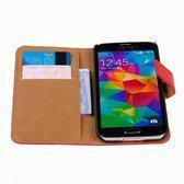 Movizy lederen wallet standcase Samsung Galaxy S5 - rood